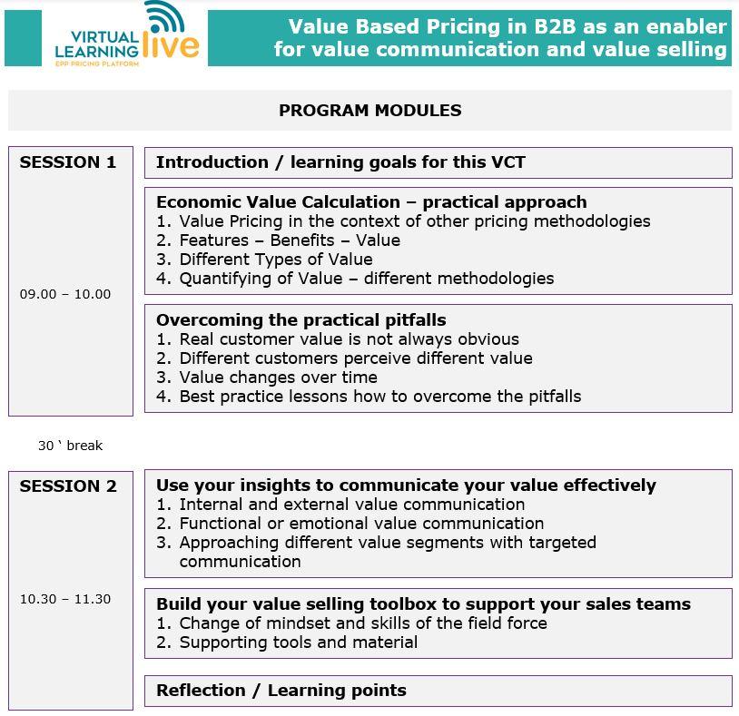Training Schedule B2B Ingo